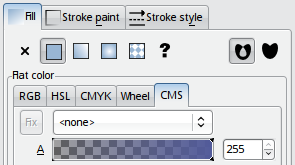 Color management tab in Fill and Stroke dialog